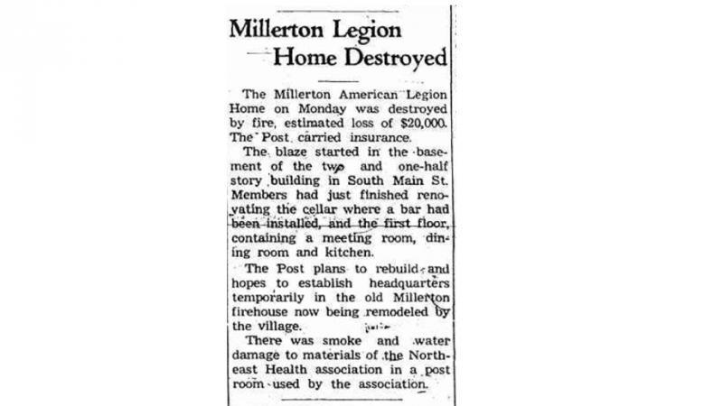 Fire Destroys Original Post Home