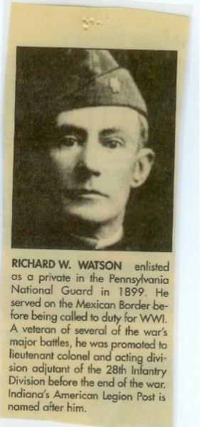 RICHARD WHITE WATSON