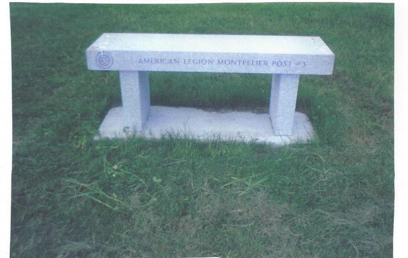donated Granite Bench fo the VT. Veterans Cemetary
