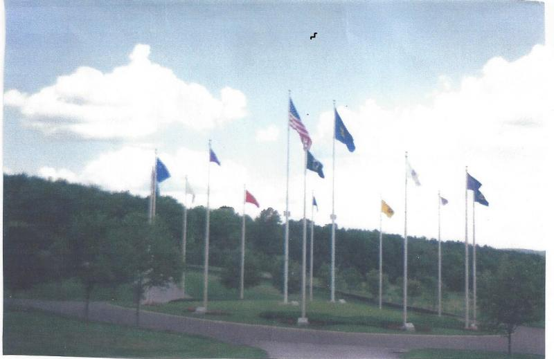 Donated flag for the Circle of flags at the VT. Veterans Cemetery