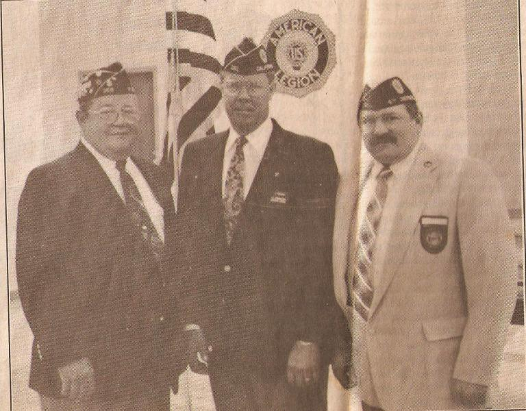 National Commander Bruce Thiesen (1993 - 1994) Visits Post 359
