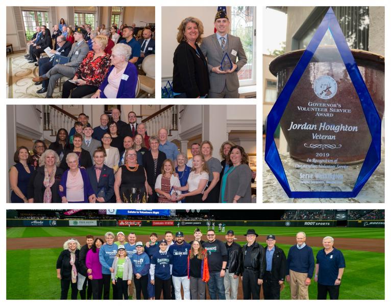 Washington Governor's Volunteer Service Award & Mariner's Salute to Volunteers Ceremony