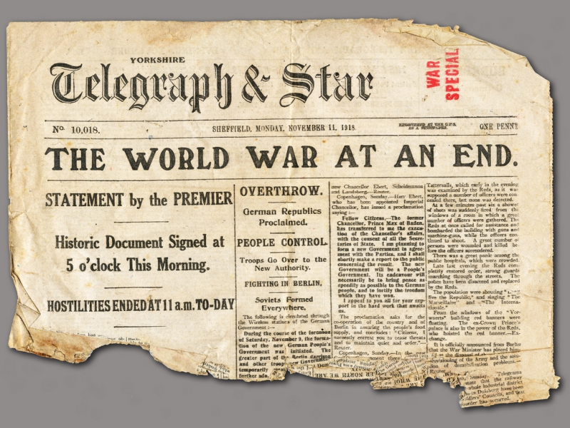 War Ends- The Armistice is Signed