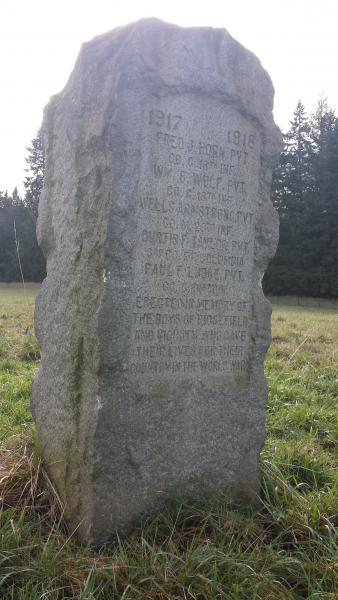 WW1 Monument in Ridgefield