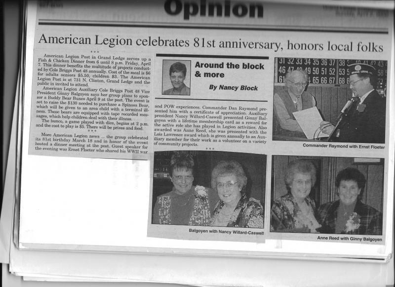 American Legion Celebrates their 81th birthday