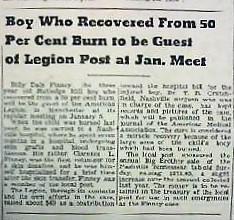 American Legion Post 78 helps local burn victim
