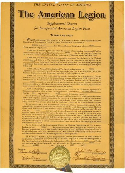 Supplemental Charter