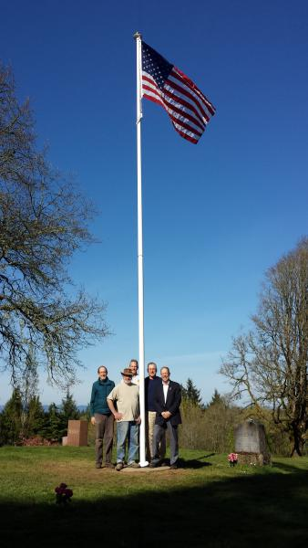 Ridgefield Cemetery Flagpole Erected by Post 44