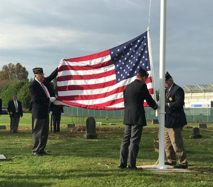 Flagfole dedicated at Sara Union Cemetery