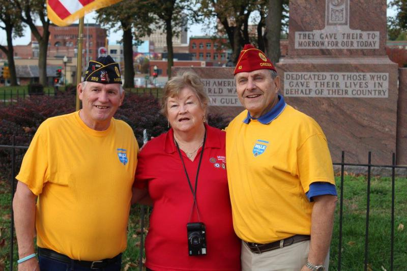 American Legion National Commander Charles E. Schmidt (2016 - 2017) visits Saint Joseph, Missouri