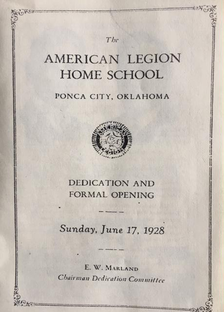 The American Legion Home School, Ponca City, Oklahoma
