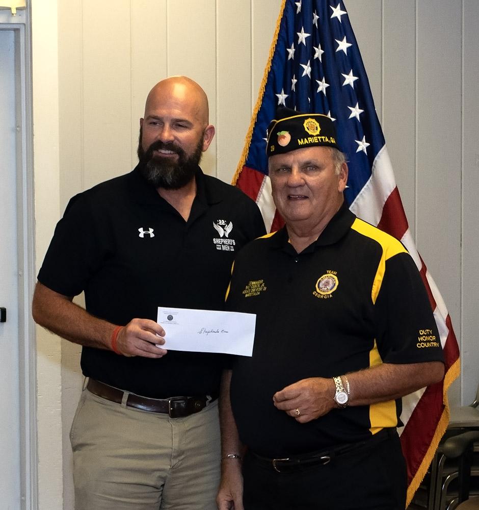 Post 29 Donates $90,000 to Three Veterans' Charities  08-02-2018