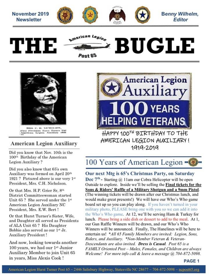 November Bugle is out.