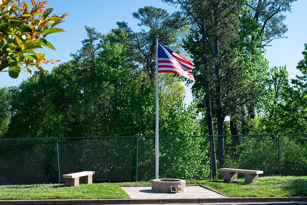 Flag Crematorium Dedicated 04-07-2018