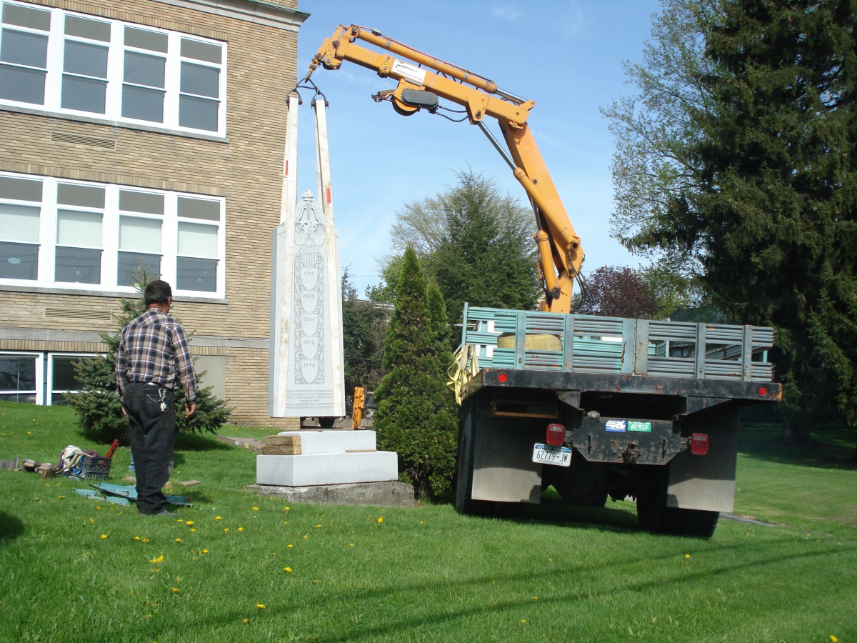 Relocation of Original Veterans Monument