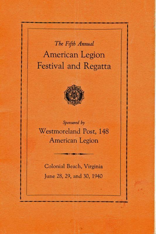 Fifth Annual American Legion Festival and Regatta