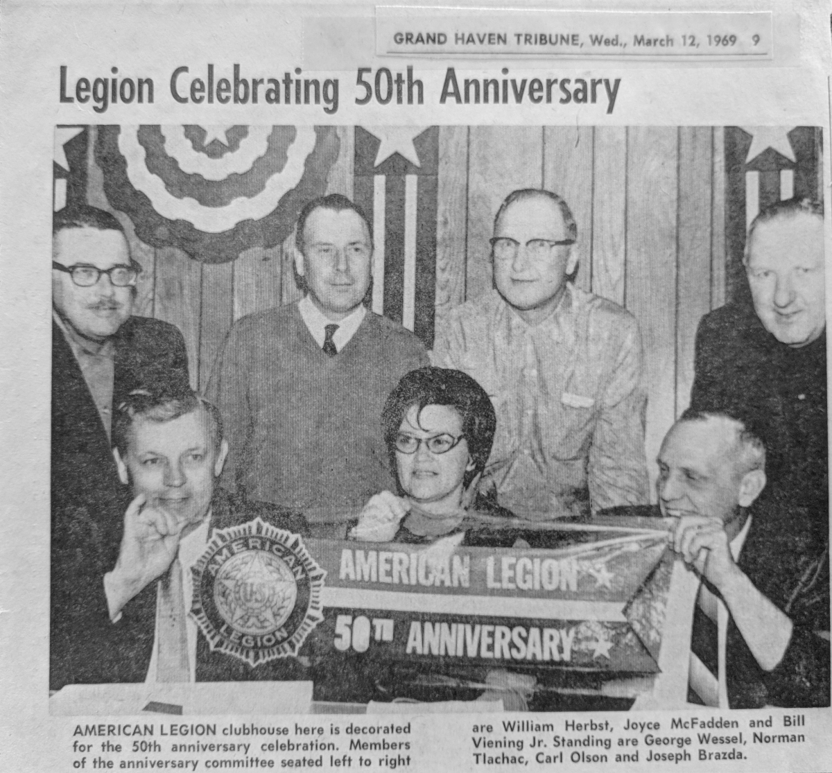 Charles A. Conklin Post 28 Celebrates American Legion's 50th Anniversary