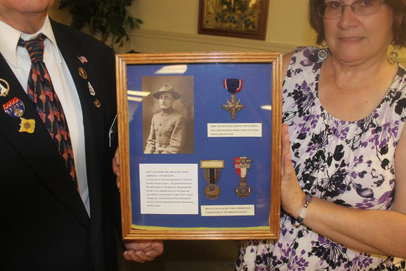 Presentation of Namesake's Medals to the Post