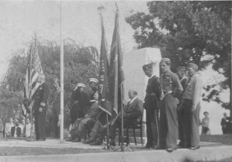 Memorial Dedication October 5, 1947