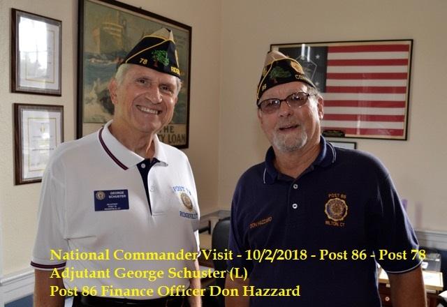 National Commander Brett Reistad Visits Post 86