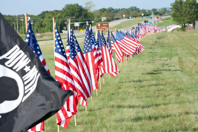 Trail Of Honor Flags