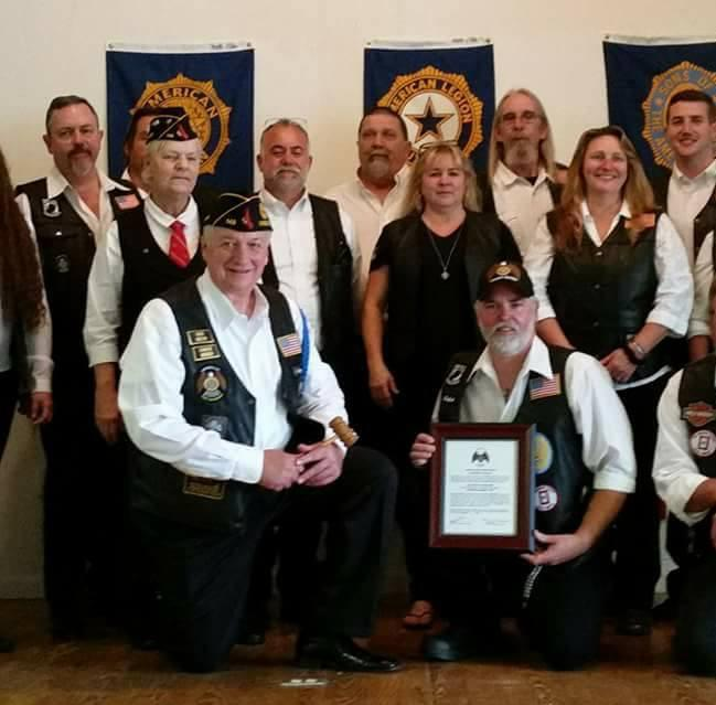 Legion Riders Receive Charter
