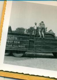 What was one way members of Post 554 in Illinois traveled in the 1950s?