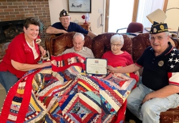 John Gilbreath receives Quilt of Valor for service in World War II at his 104th birthday