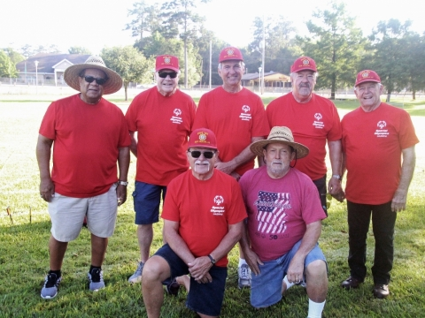 2019, 05-25. Louisiana  First District Posts 307,82, 285, and 395 Volunteers at the Special Olympics held at Southeastern University in Hammond La.