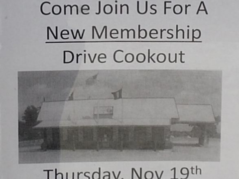 Post Conducts New Membership Drive Cookout