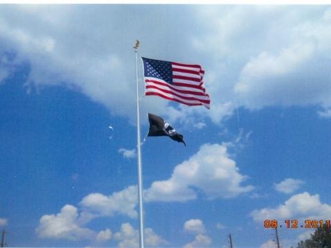 New Flag Pole  08-20-2011