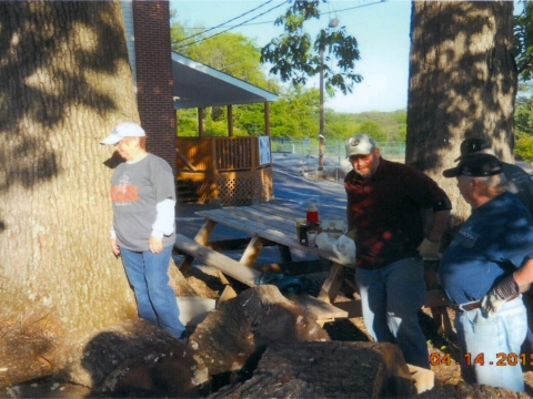 Splitting Wood for Upcoming Labor Day BBQ  04-14-2012