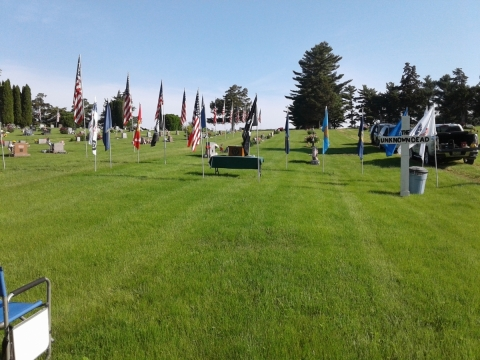 Memorial Day Service at Wellman, Ia.