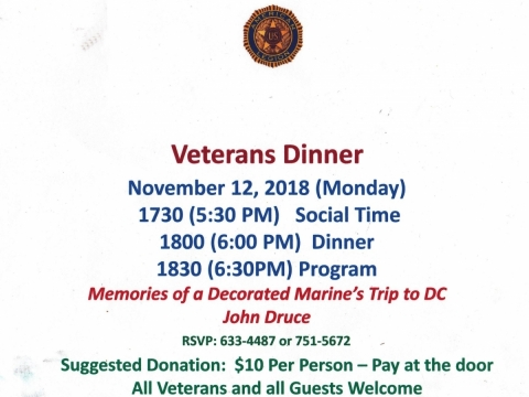 Veteran's Dinner