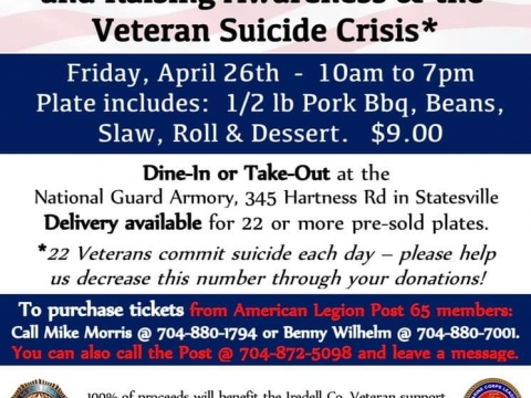 American Legion Post 65 takes on the problem of Veteran suicide.