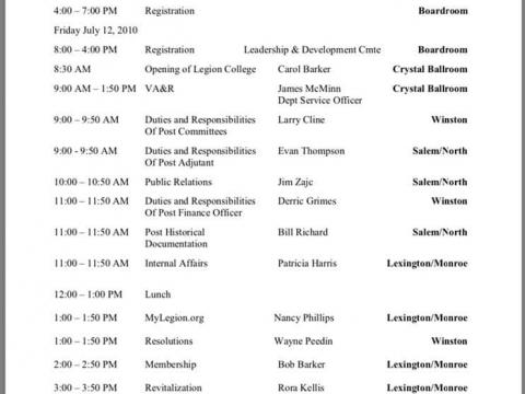 Course Syllabus upcoming Tar Heel Blue cap Legion College