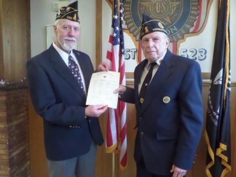 Burton E. Falk - American Legion Member for 70 years