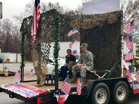 Our Parade float wins in Harmony NC