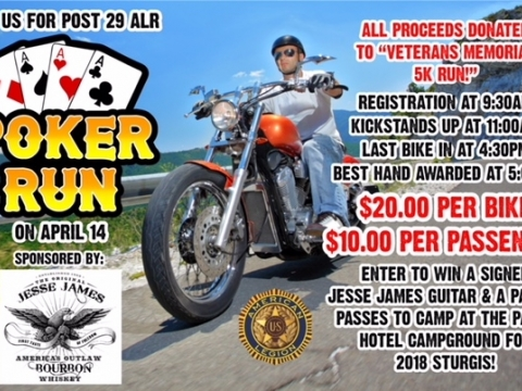 Post 29 ALR Poker Run - 04-14-2018