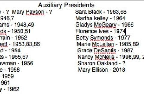Post 36 Auxiliary History