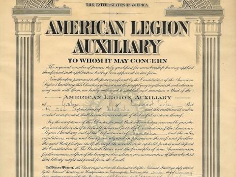 Gretna American Legion Auxiliary Leonard Conley Unit, Chartered in Janurary 1926