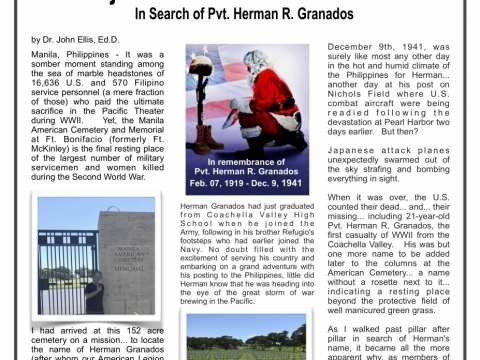 In Search of Pvt. Herman R. Granados