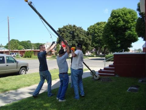 Post 17 Flag Pole Dedication