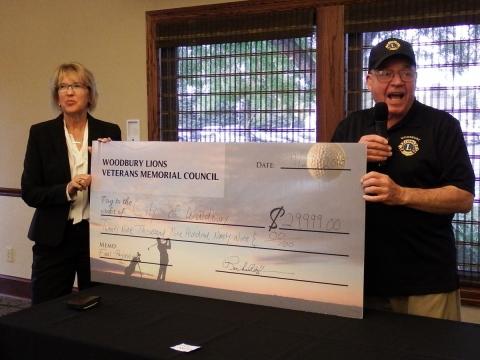 Woodbury Lions Memorial Council Pays off Woodbury Veterans Memorial