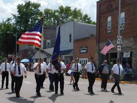 Honor Guard in the UFO Day parade