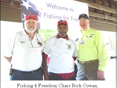 Post 143 Supports District 5 Fishing 4 Freedom