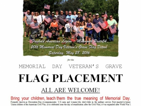 Memorial Day Flag Details