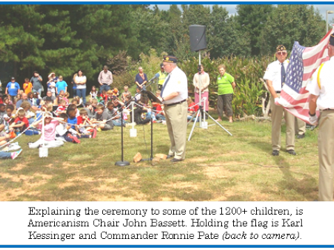 Post 143 Conducts Flag Retirement at Carroll County Heritage Days 2014