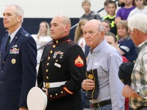 Henderson Jr. High Veterans Appreciation Day 2015
