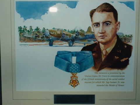 Jay Zeamer Jr. Army Air Corp Medal of Honor Recipient